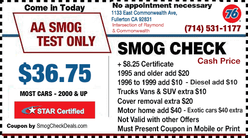 Smog Coupon Fullerton